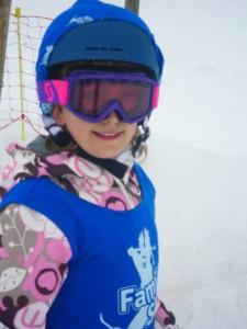 celeste skiing